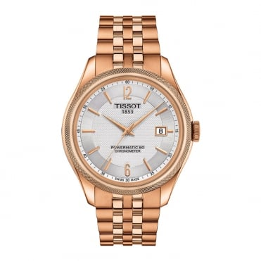 Ballade Powermatic 80 COSC Rose Gold PVD Silver Dial Bracelet Watch