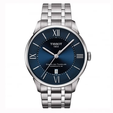 Chemin Des Tourelles Automatic Blue Dial Bracelet Watch