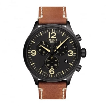 Chrono XL Black Dial Strap Watch
