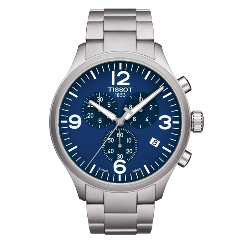 dde866518e7 TISSOT Chrono XL Blue Dial Bracelet Watch at Owen   Robinson Leeds