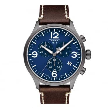 Chrono XL Blue Dial Strap Watch