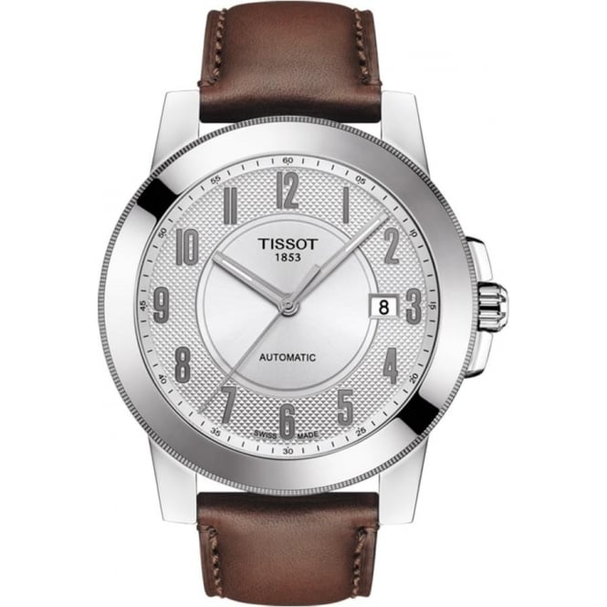 Tissot Gentleman Swissmatic Automatic Silver Dial Strap Watch
