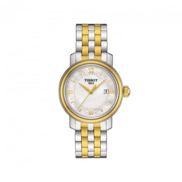 Tissot Ladies Bridgeport Steel & Yellow Gold PVD Mother of Pearl Dial Bracelet Watch