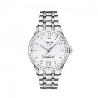 Tissot Ladies Chemin Des Tourelles Automatic Silver Dial Bracelet Watch