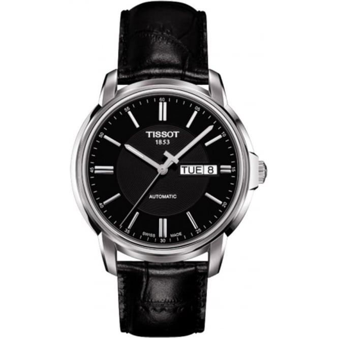 Tissot Men's Automatic III Black Dial Strap Watch
