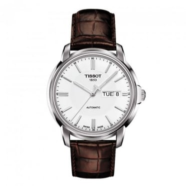 Tissot Men's Automatic III White Dial Strap Watch