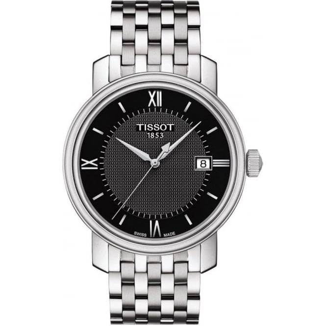 Tissot Men's Bridgeport Black Dial Bracelet Watch