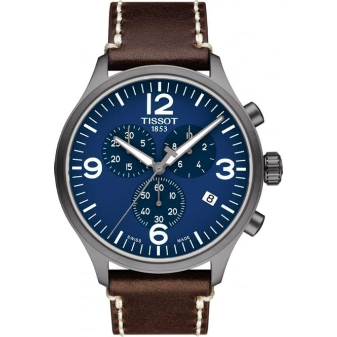 Tissot Men's Chrono XL Blue Dial Strap Watch