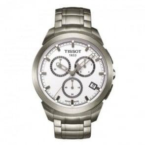 Tissot Men's Titanium Chronograph White Dial Bracelet Watch