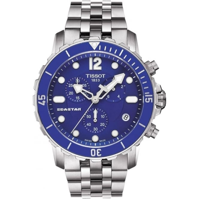 Tissot Seastar 1000 Chronograph Blue Dial Bracelet Watch