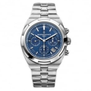 Vacheron Constantin Gentlemen's Overseas Automatic Chronograph Blue Dial Bracelet Watch
