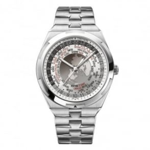 Vacheron Constantin Gentlemen's Overseas World Time Silver Dial Bracelet Watch