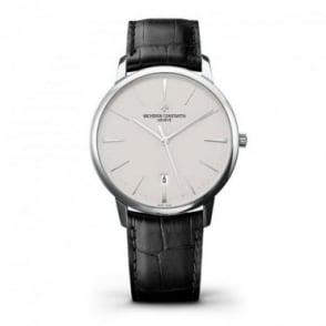 Vacheron Constantin Patrimony 18K White Gold Automatic Silver Dial Strap Watch
