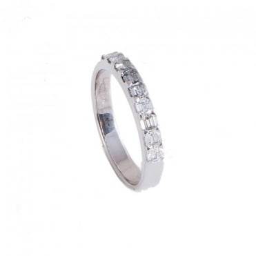 Owen & Robinson White Gold Emerald Cut Diamond Eternity Ring