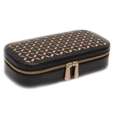 Wolf Designs Chloe Zip Jewellery Case - Black