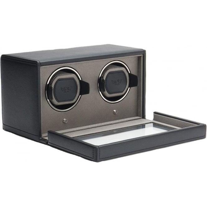 cub double watch winder in black and grey