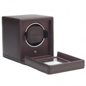 Wolf Designs Cub Watch Winder with Cover in Brown