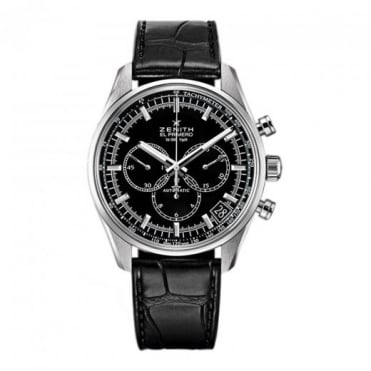Zenith Chronomaster: El Primero 42mm Automatic Chronograph Black Dial Strap Watch