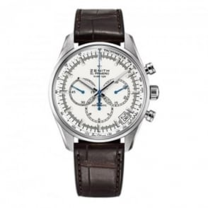 Zenith Chronomaster: El Primero 42mm Automatic Chronograph White Dial Strap Watch