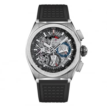 Defy: El Primero 21 Titanium Full Open Skeletonised Dial Strap Watch